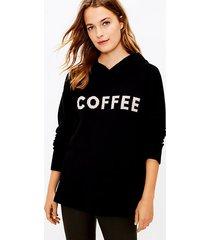 loft lou & grey coffee hoodie tunic sweater