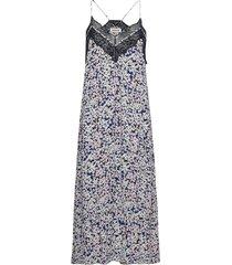 revel cdc print begonia dress knälång klänning blå zadig & voltaire