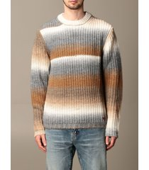 golden goose sweater golden goose pullover in wool and alpaca blend with gradient bands