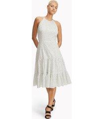 tommy hilfiger women's essential dot tiered midi dress white - 2
