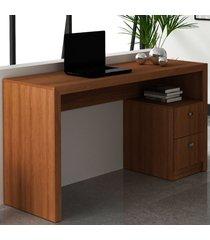 mesa para escritório 2 gavetas amendoa me4130 - tecno mobili