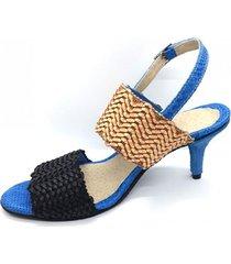 sandalia azul calabria sasha