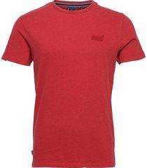 vintage logo emb tee t-shirts short-sleeved röd superdry