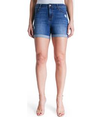 women's liverpool jeans company 'vickie' denim shorts, size 2 - blue