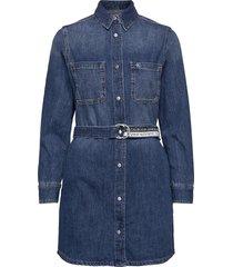 relaxed shirt dress dresses shirt dresses blå calvin klein jeans