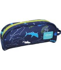 estuche sicodelia tiburones azul head