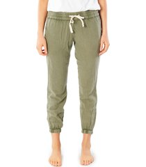 women's rip curl classic surf pants, size x-large - green