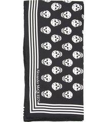 skull silk twill scarf