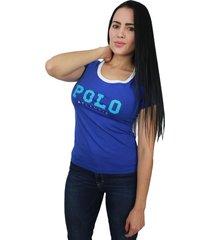 camiseta mujer azul rey - crm-2608-05