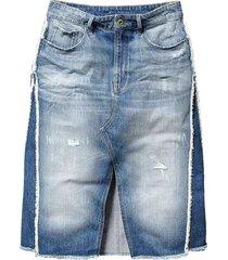 g-star raw 3301 fringe jeans skirt rokken