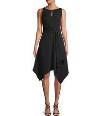 asymmetric fit-&-flare dress