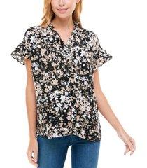 women's ruffle sleeve top