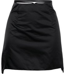 helmut lang wraparound waist mini skirt - black