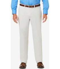 j.m. haggar men's luxury comfort classic-fit performance stretch casual pants