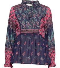 la vie boheme v-neck blouse blus långärmad multi/mönstrad odd molly