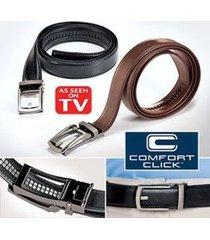 men new comfort click leather belt for men black or brown as seen on tv
