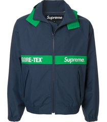 supreme gore-tex court jacket - blue