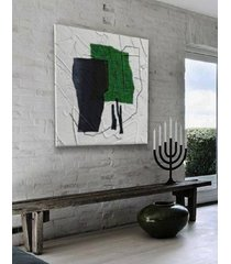 green dominanta - nowoczesny obraz do salonu