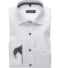 eterna hemd mouwlengte 7 comfort fit structuur wit