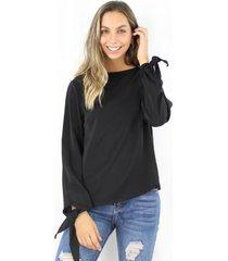 blusa serena negra jacinta tienda