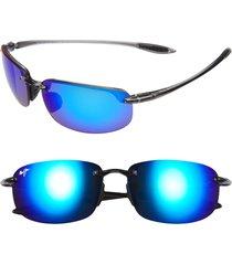men's maui jim 'ho'okipa - polarizedplus2' 63mm sunglasses - smoke grey/ blue hawaii