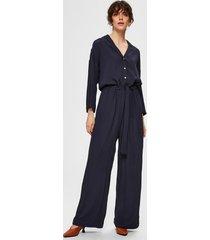 selected femme 16072526 slfjulia 3/4 jumpsuit b blauw