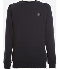 philipp plein cotton blend sweatshirt with monogram detail