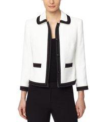 anne klein contrast-trim jacket