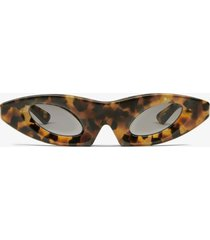 proenza schouler cat eye sunglasses light medium tortoise one size
