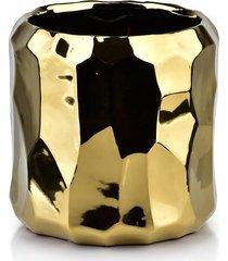 kwietnik osłonka ceramiczna golden