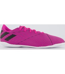 chuteira adidas nemeziz 19.4 in futsal juvenil rosa