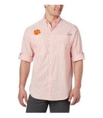 columbia clemson tigers men's super tamiami long sleeve shirt
