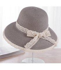 encaje de verano sombreros para el sol para las mujeres nueva moda