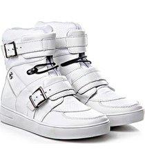 tênis sneaker rock fit couro napa confort