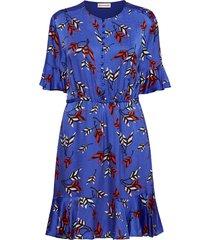 rose korte jurk blauw custommade