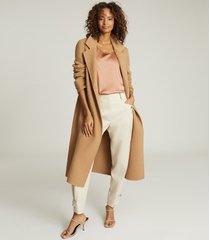 reiss remey - silk front vest in mocha, womens, size xl