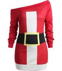 plus size off shoulder christmas sweatshirt