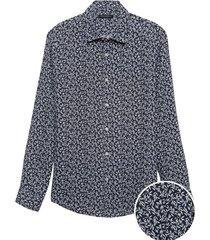 camisa standard fit lino azul banana republic
