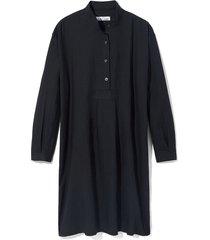 long sleep shirt black linen