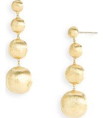 women's marco bicego 'africa gold' linear drop earrings