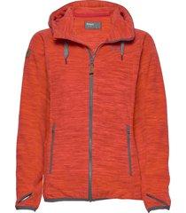 hareid fleece w jkt hoodie trui rood bergans