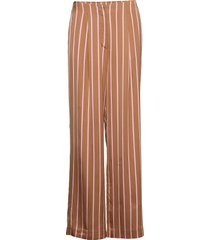 2nd bradley stripe wijde broek bruin 2ndday