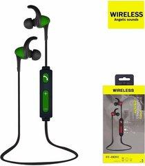 audífonos bluetooth, fe-801e inalámbricos auricular - verde