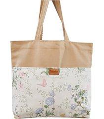 torba xl shopperka zero waste -pastelowy zielnik