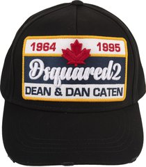 black baseball cap with dsquared2 1964-1995 patch