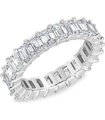 14k white gold & 3.84 tcw lab-grown diamond eternity ring