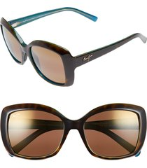 maui jim orchid 56mm polarizedplus2(r) sunglasses in tortoise peacock/hcl bronze at nordstrom