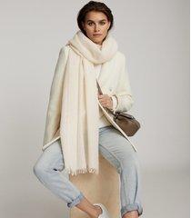 reiss lydia - alpaca wool blend scarf in cream, womens