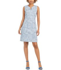 karl lagerfeld sleeveless tweed sheath dress