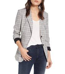 women's chelsea28 plaid blazer, size xx-large - grey